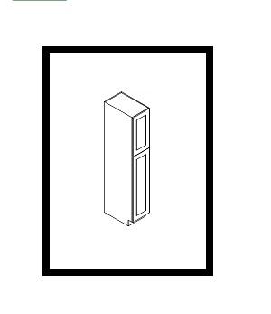 """GW-WP1596 * WALL PANTRY 15""""WX24""""DX96""""H 2 DOORS"""