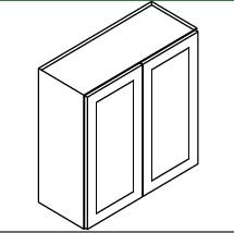 """GW-W2742B * WALL CABINET 27""""WX12""""DX42""""H – 2 DOOR"""