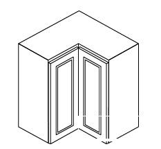 "GW-WSQ2430 * WALL SQUARE CORNER CABINET – 24""WX12""DX30""H"