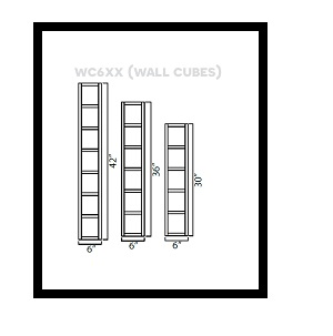 "AG-WC642 * WALL CUBE 6""W X 12""D X 42""H"