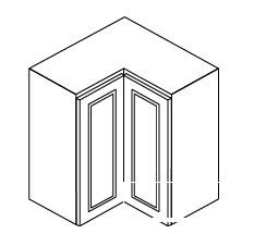 """AG-WSQ2430 * WALL SQUARE CORNER CABINET – 24""""WX12""""DX30""""H"""