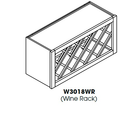 "PC-W3018WR * WINE RACK 30""WX12""DX18""H"