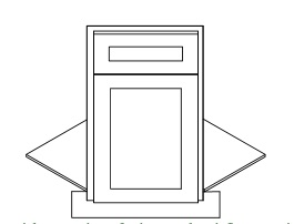 TS-BDCF36K-FL * FRONT FRAME, DOOR & DRAWER FRONT, FLOOR AND TOE KICK ONLY (NOT FULL CABINET)
