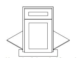 KW-BDCF36K-FL * FRONT FRAME, DOOR & DRAWER FRONT, FLOOR AND TOE KICK ONLY (NOT FULL CABINET)
