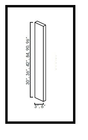 "KW-WF396-3/4 * WALL FILLER 3""WX3/4""DX96""H"