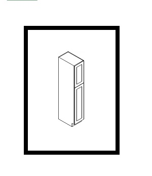 "KW-WP1596 * WALL PANTRY 15""WX24""DX96""H 2 DOORS"