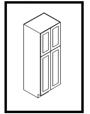 "KW-WP2496B * WALL PANTRY 24""WX24""DX96""H 4 DOORS"