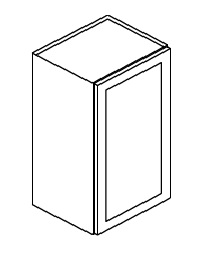 """KW-W1542 * WALL CABINET 15""""WX12""""DX42""""H - 1 DOOR"""