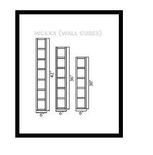 """KW-WC642 * WALL CUBE 6""""W X 12""""D X 42""""H"""