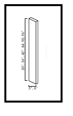 "AK-WF384-3/4 * WALL FILLER 3""WX3/4""DX84""H"