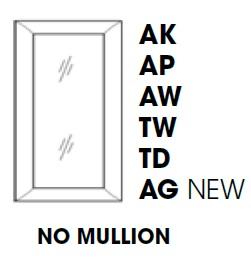 AK-W3036BGD * GLASS DOOR FOR W3036B WALL CABINET