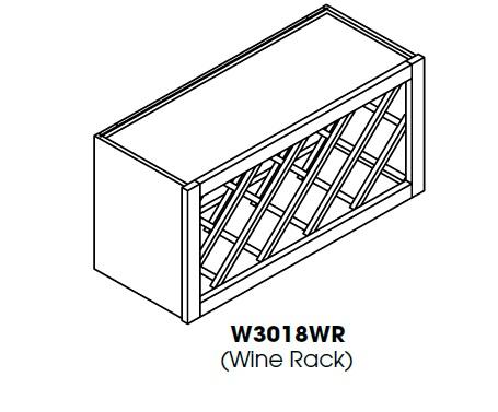 """AK-W3018WR * WINE RACK 30""""WX12""""DX18""""H"""