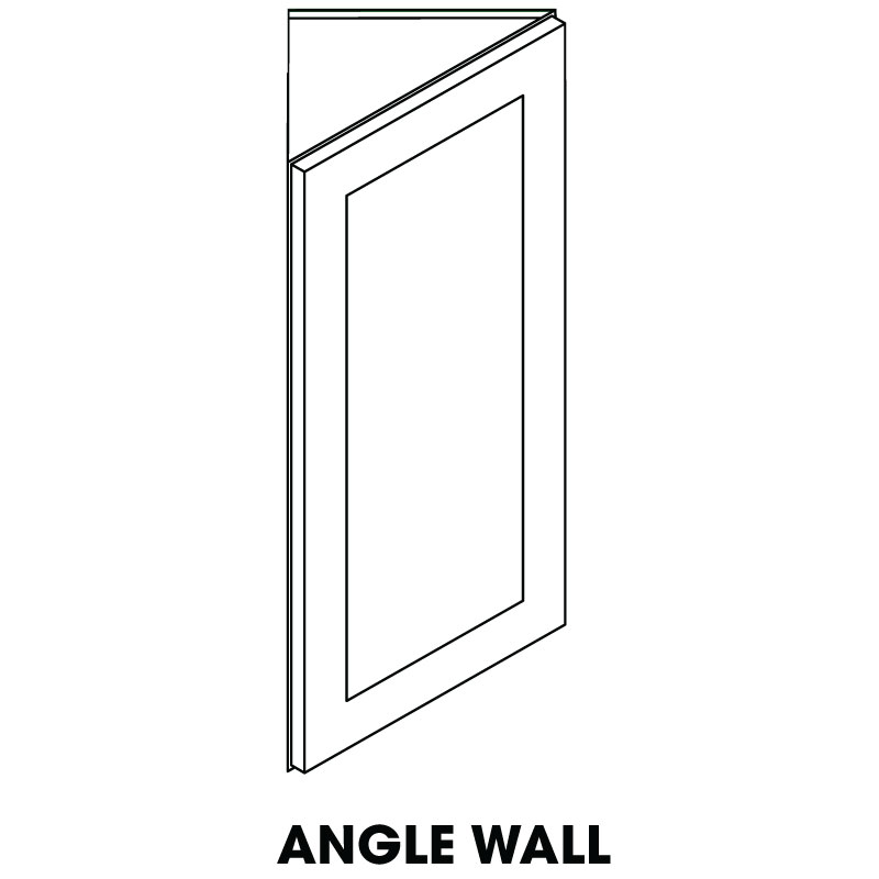 "MR-AW42 * ANGLE WALL CABINET 12""WX12""DX42""H"