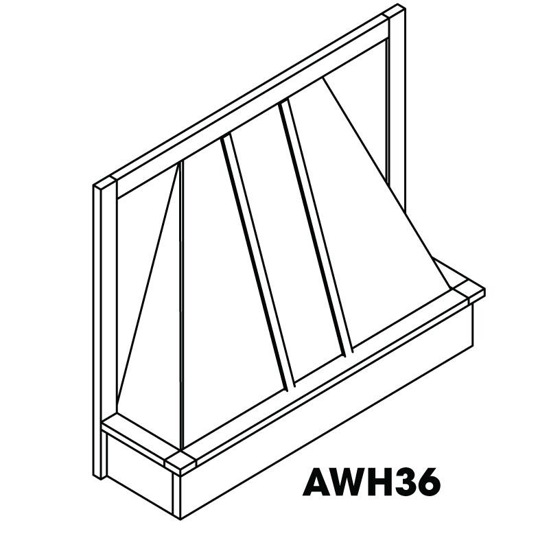 """AG-AWH36 * WOOD HOOD 36""""W"""