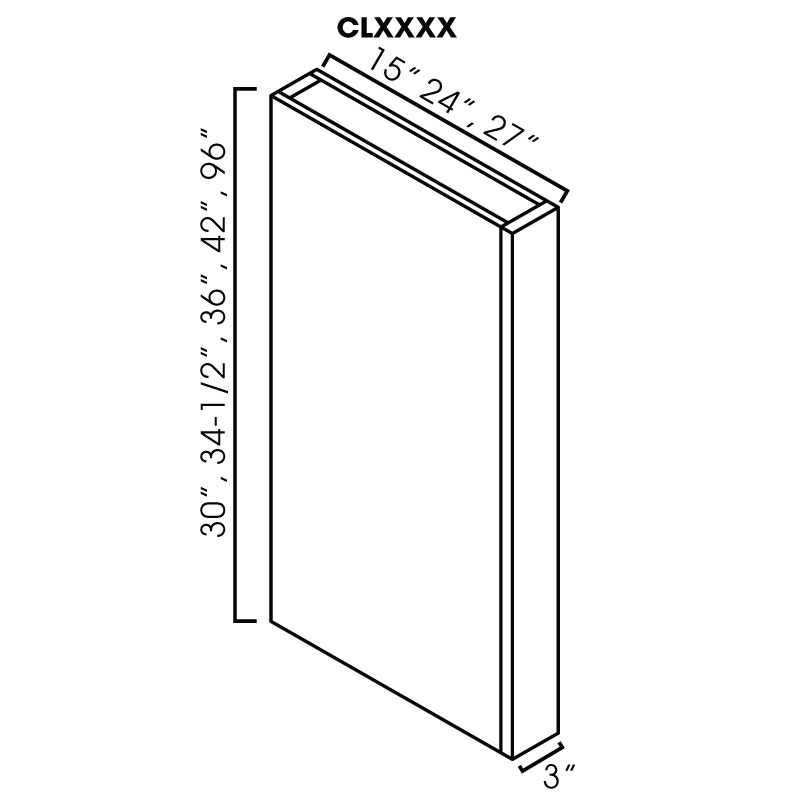 "KW-CLW342 * COLUMN WALL. 3""WX15""DX42""H (COPY)"