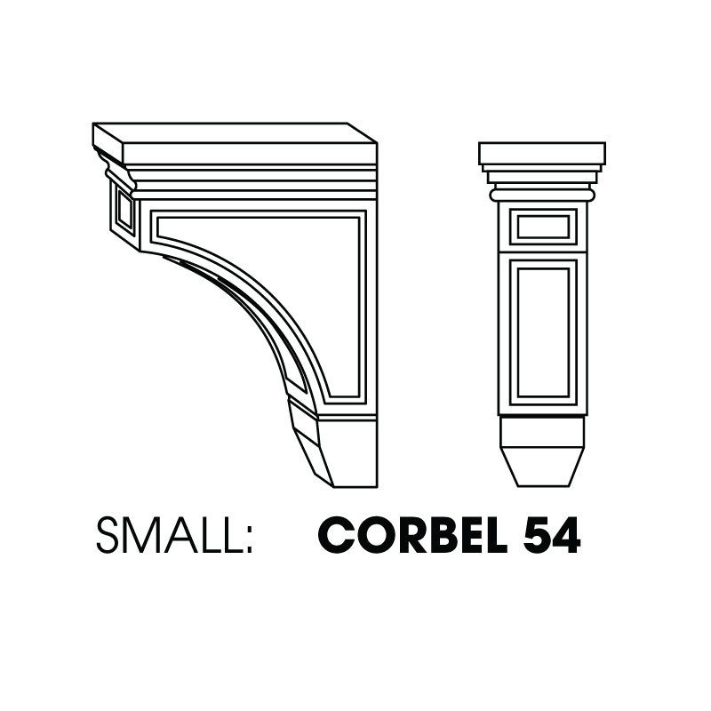 "MR-CORBEL54 * SMALL CORBEL, RAISED CENTER 3""WX4""DX6""H"