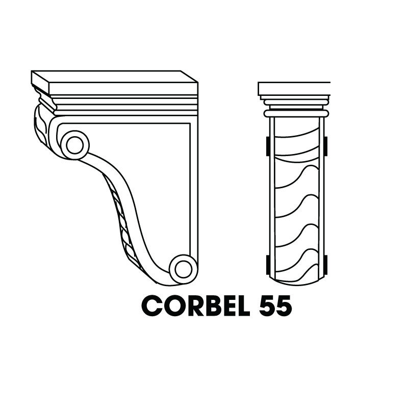 "MR-CORBEL55 * SMALL CORBEL 3""WX4""DX6""H"