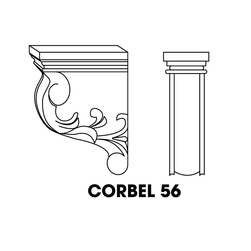 "MR-CORBEL56 * SMALL CORBEL 3""WX4""DX6""H"