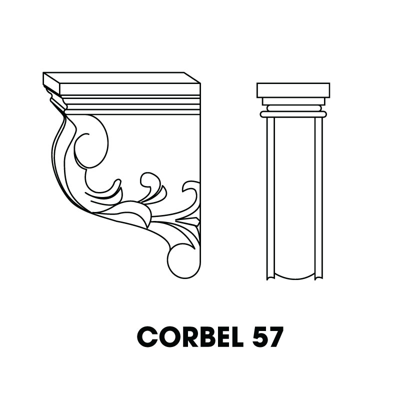"MR-CORBEL57 * LARGE CORBEL 3""WX6""DX9""H"
