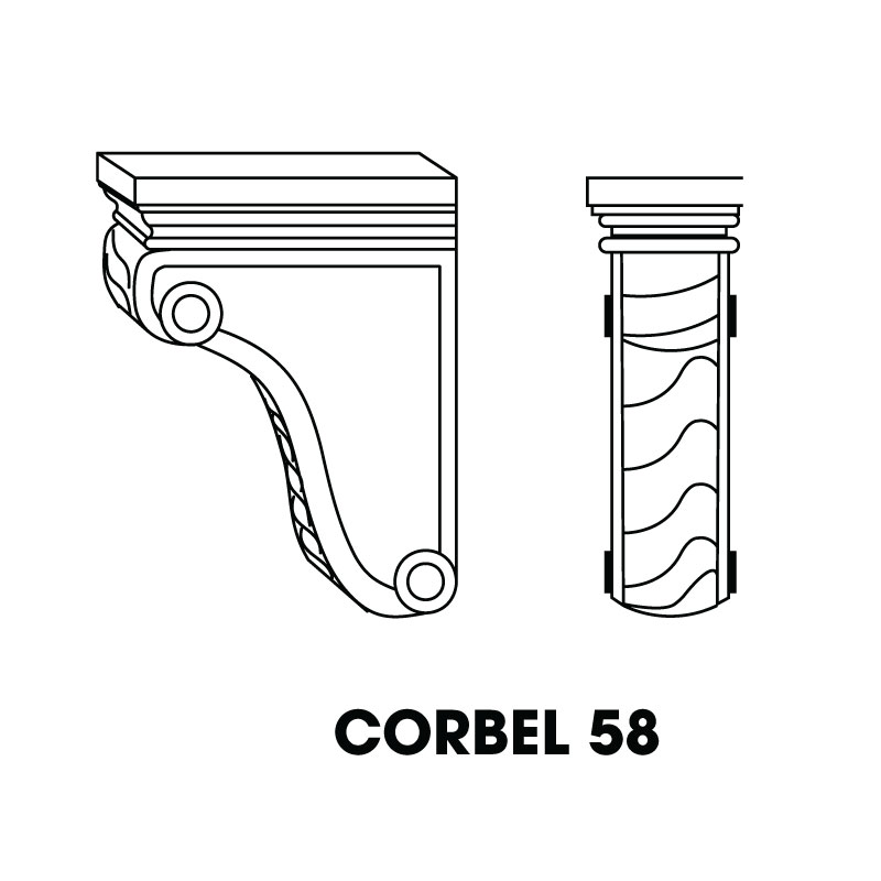"MR-CORBEL58 * LARGE CORBEL 3""WX6""DX9""H"