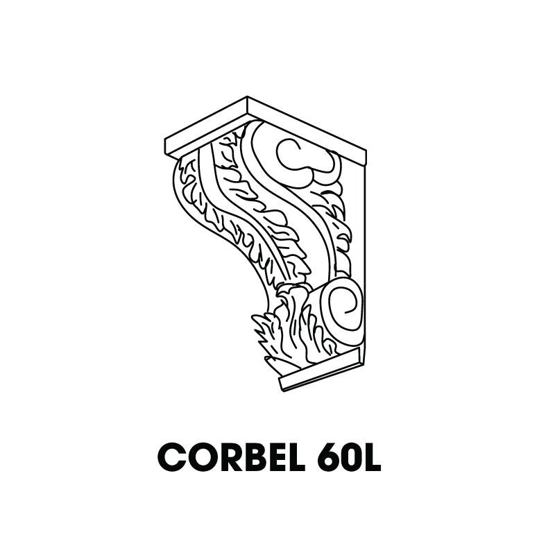 "SB-CORBEL60L-BLACK * LARGE CORBEL 7""WX7""DX17""H"