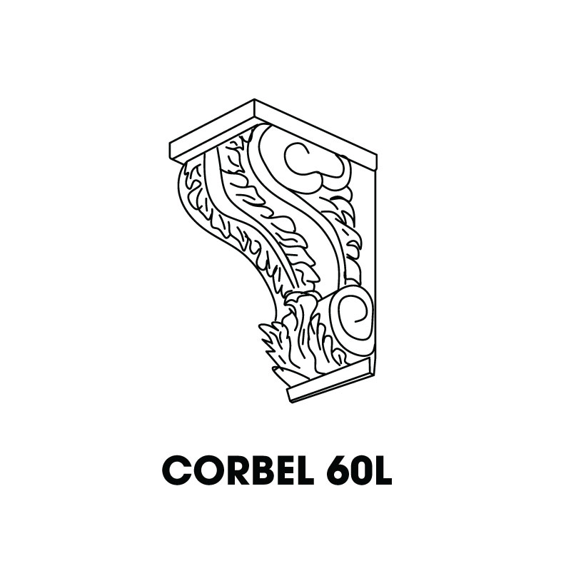 "MR-CORBEL60L * LARGE CORBEL 7""WX7""DX17""H"
