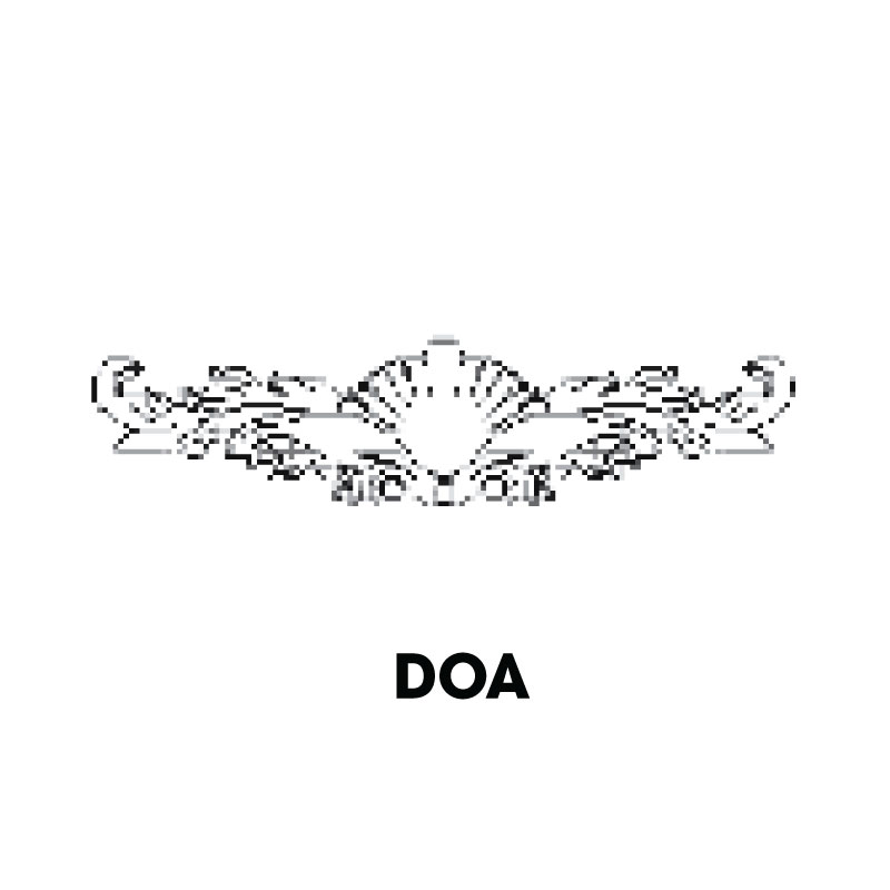 "KW-DOA * DECORATIVE ONLAY APPLIQUE 19-7/8""W X 4-14""H (COPY)"