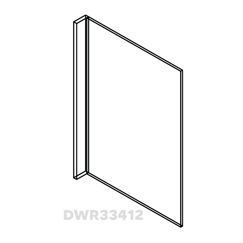 "KW-DWR33412 * DISHWASHER PANEL WITH 3"" RETURN 24""WX1/2""DX34.5H"