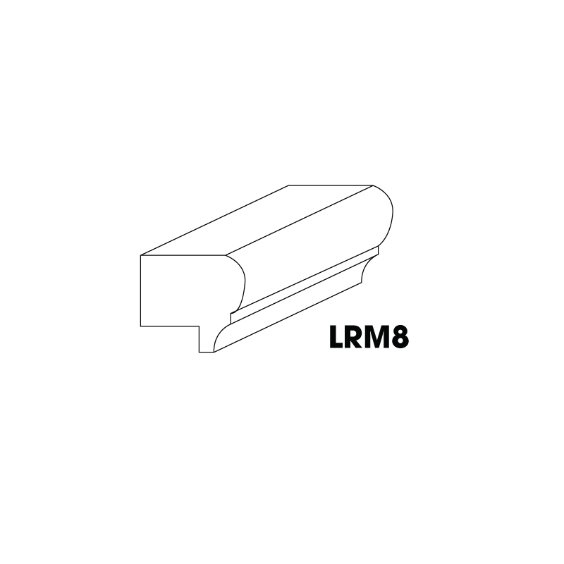 "LRM8 (AW-GW-TW) * LIGHT RAIL MOULDING 1-1/2""X1""X96"""