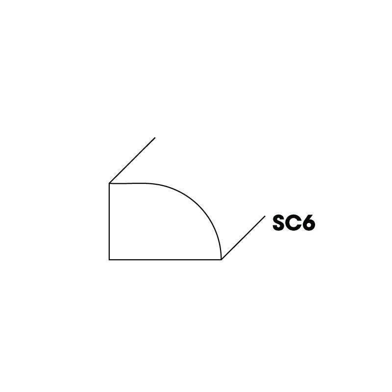 "KW-SC6 (SM) * SHOE MOLDING 1/2""X3/4""X96"""