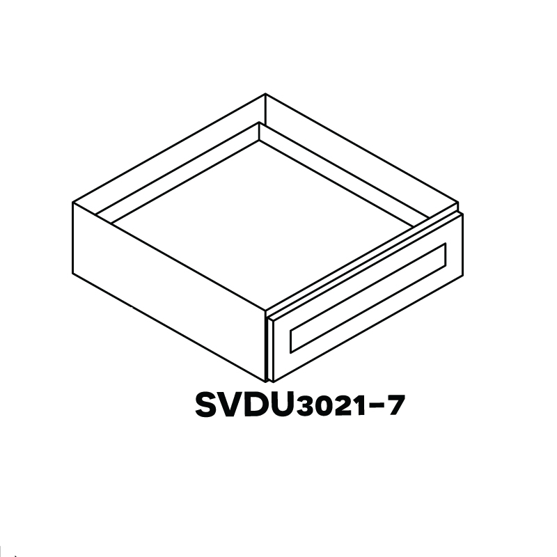 "AW-SVDU3021-7"" * VANITY DRAWER 30""WX21""DX7""H"