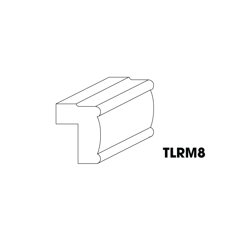 "KW-TLRM8 * LIGHT RAIL MOULDING 1-1/2""X2-1/4""X96"""