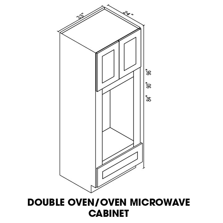 AW-OM3384B * DOUBLE OVEN:? 33″WX24″DX84″H
