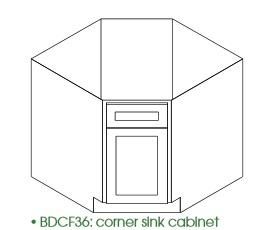 TG-BDCF36 * DIAGONAL BASE 36″WX24″DX34.5″H ONE DOOR, NO DRAWER