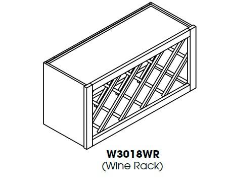 TG-W3018WR * WINE RACK 30″WX12″DX18″H
