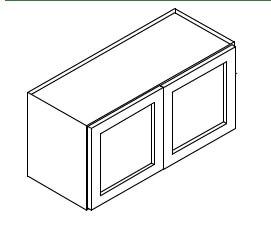 TG-W3324B * WALL CABINET 33″WX12″D'X24″H 2 DOOR