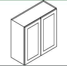 TG-W3642B * WALL CABINET 36″WX12″DX42″H – 2 DOOR