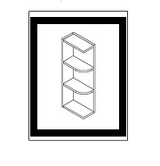 AN-WES530 * WALL END SHELF 5″WX12″DX30″H